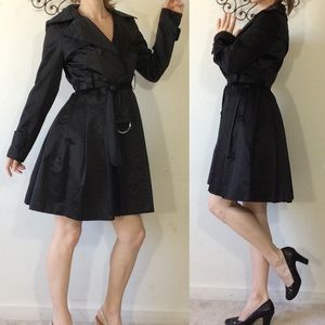 BeBe Lustrous Classic Black Trench Coat